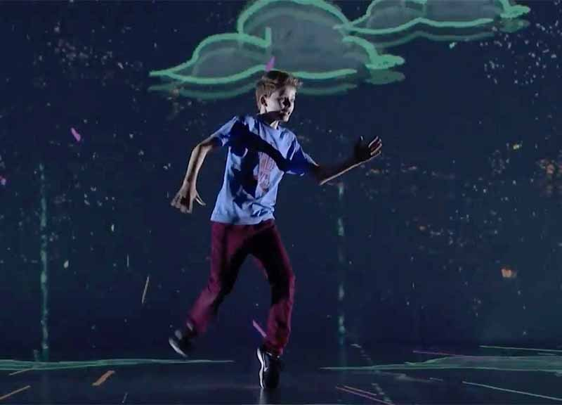 "Merrick Hanna of Encinitas performs in quarterfinals of ""America's Got Talent"" on NBC."