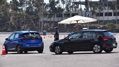 A main event on Electric Vehicle Day was test-driving 20 models of electric cars. Photo by Chris Stone