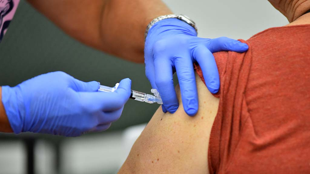 County health workers give Hepatitis A shots at clinics and libraries.