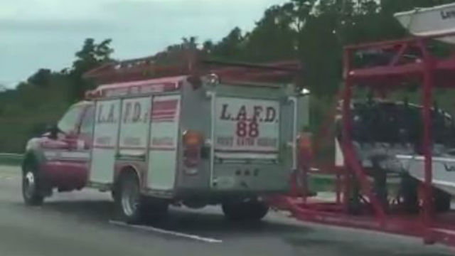 Los Angeles Fire Department truck in Florida