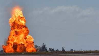 Explosion were detonated at the Miramar Air Show.