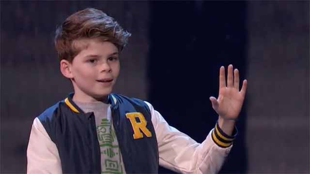 """Merrick Hanna freezes at end of his semifinal dance on """"America's Got Talent."""""""