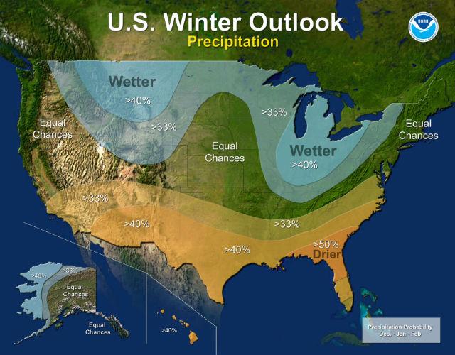 Winter precipitation outlook