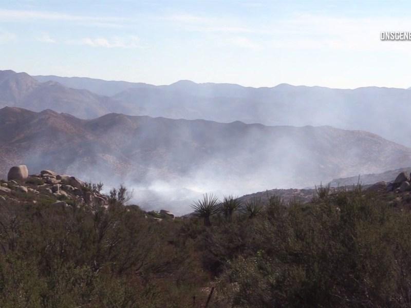 Smoke from Wilson Fire