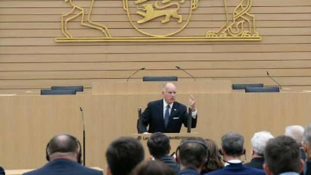 Gov. Jerry Brown in Europe
