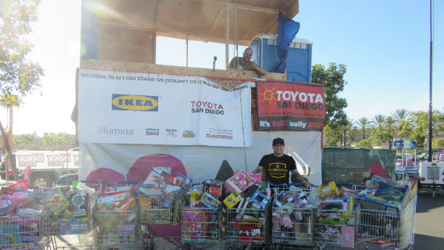 Toys collected by A.J. Machado