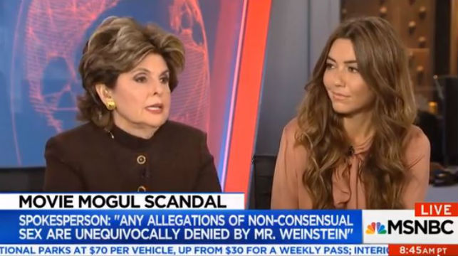 Attorney Gloria Allred and client