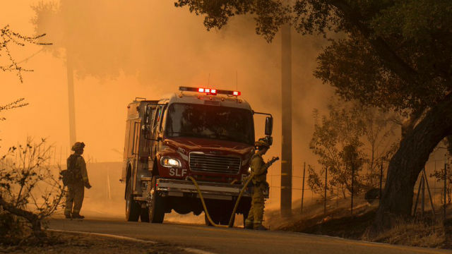 Firefighters at Thomas Fire