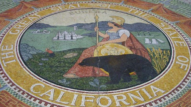 Mosaic of state seal