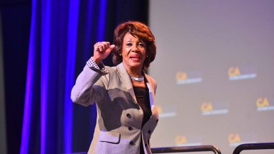 "Rep. Maxine Waters told delegates to ""get ready for impeachment."" Photo by Chris Stone"