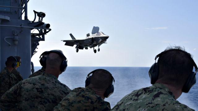 F-35B near USS Wasp