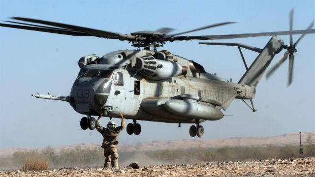 CH-53 landing