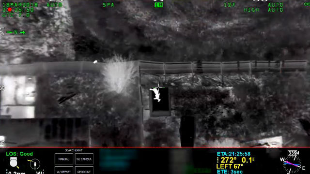 Stephon Clark in image from police helicopter