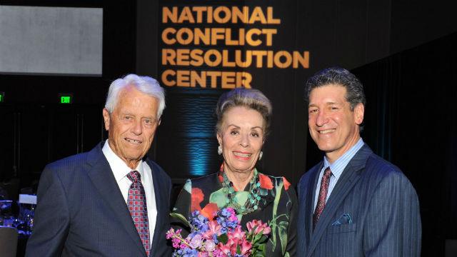 Jeanne Herberger with Malin Burnham and Steven Dinkin