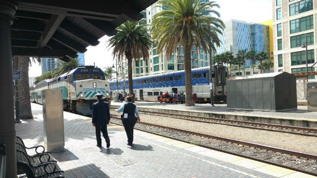 Trains at Santa Fe Terminal