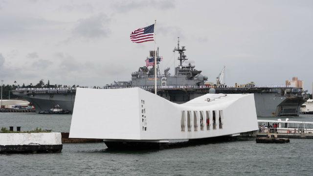 USS Bonhomme Richard in Pearl Harbor