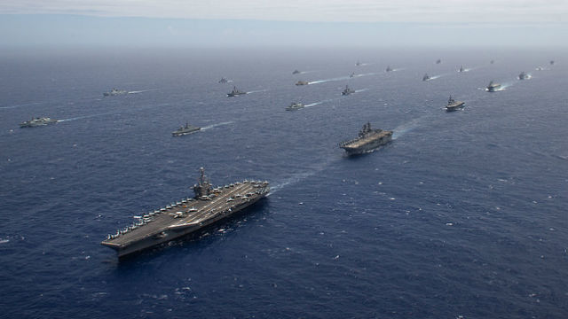 Ships in formation