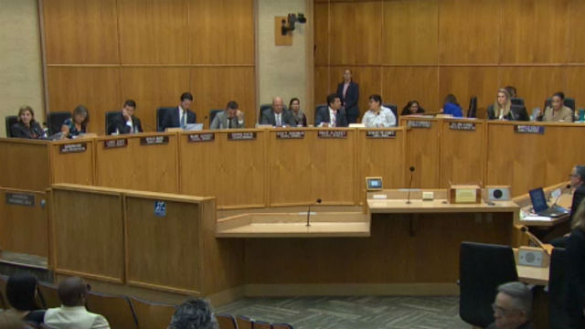 San Diego City Council members in the chamber