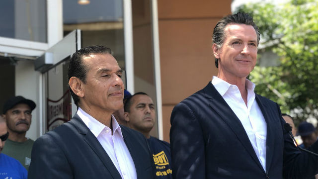 Antonio Villaraigosa and Gavin Newsom
