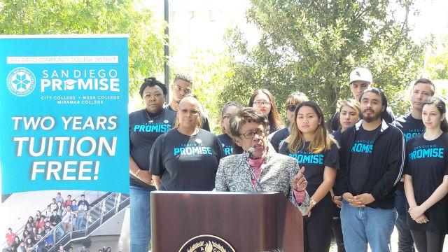 Constance Carroll announces San Diego Promise Program