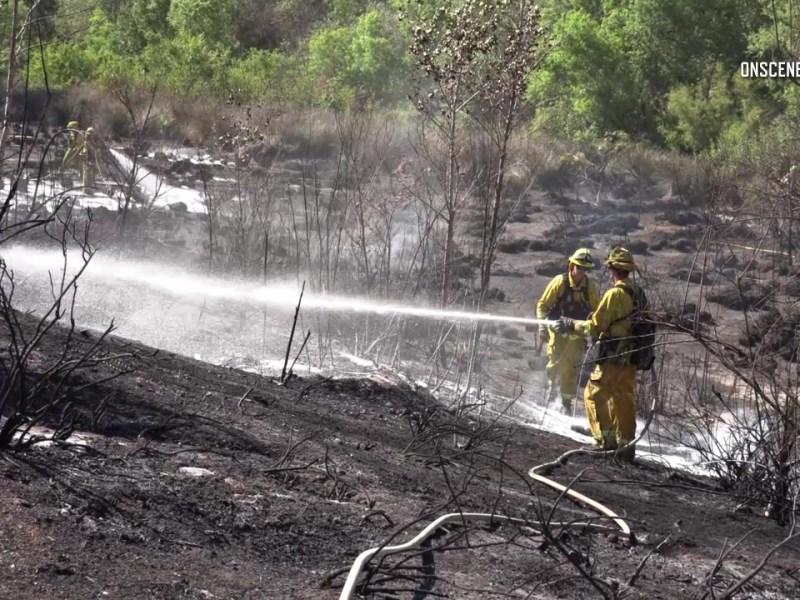 Santee brush fire