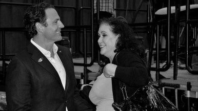 Making the rounds at Golden Hall were supervisor candidate Nathan Fletcher and his wife, Assemblywoman Lorena Gonzales-Fletcher.