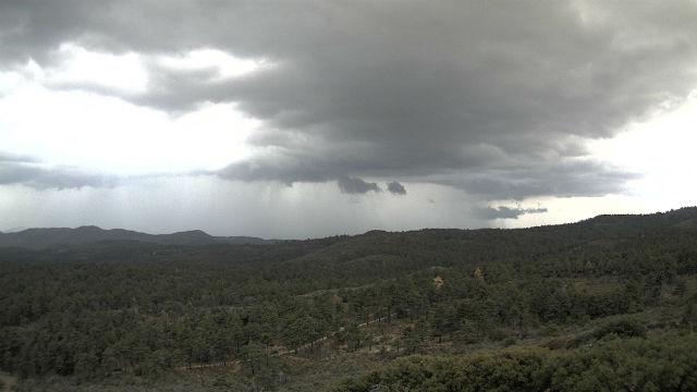 Thunderhead and rain west of Mt. Laguna