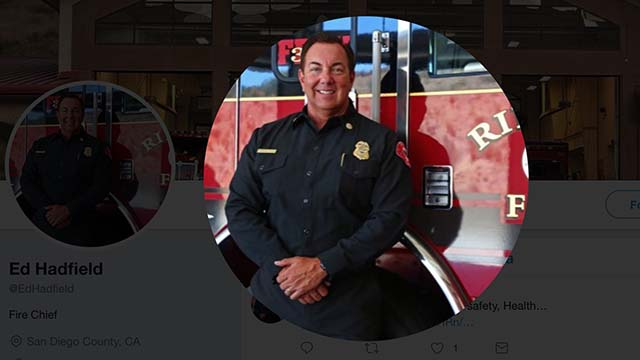 Rincon Fire Chief Ed Hadfield.