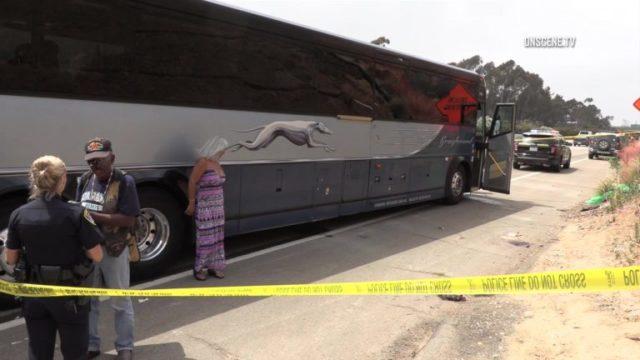 Greyhound bus stabbing