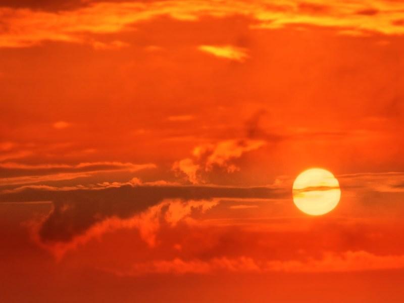 sun, heat, sunrise, hot
