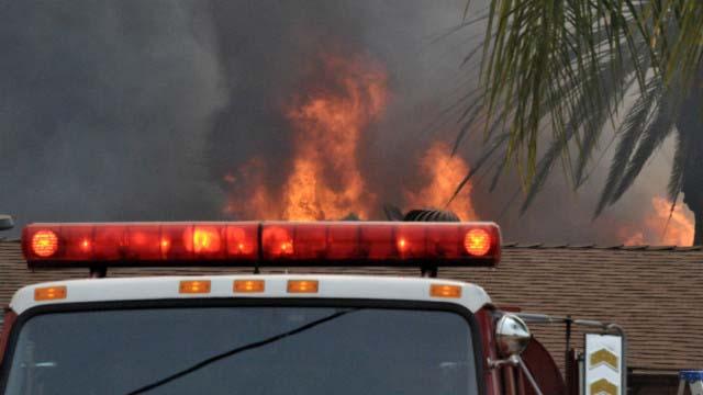 Cocos fire scene near San Marcos in May 2014.