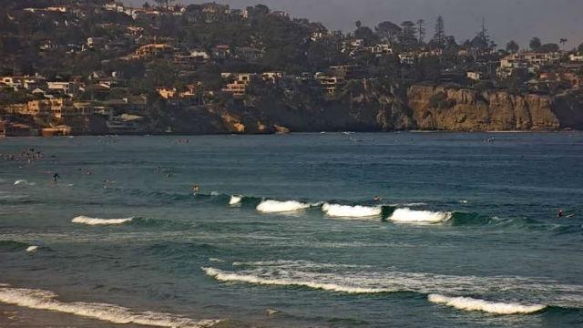 Surf off La Jolla shores