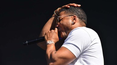 Rapper Nelly performs at KAABOO Del Mar. Photo by Chris Stone