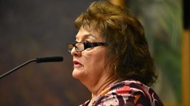 Julian fire board member Aida Tucker spoke in favor of the fire district dissolution.