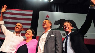 Congressional candidates (left to right) Katie Porter, Harley Rouda and Mike Levin.