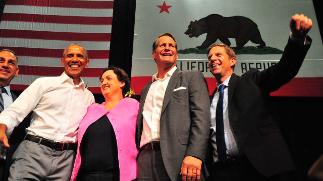 Mike Levin with former President Obama