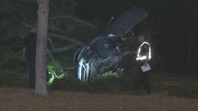 Honda Accord wreckage
