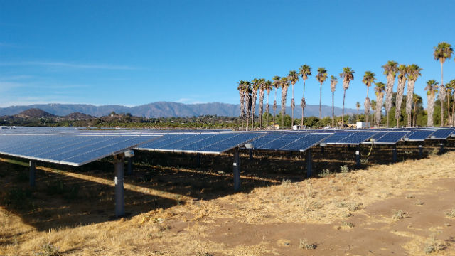 Solar facility in Valley Center