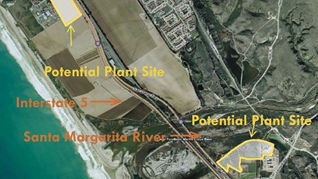 Original plans for Camp Pendleton desalination plant.