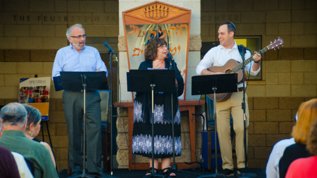 Beth Israel rabbis perform an outdoor service