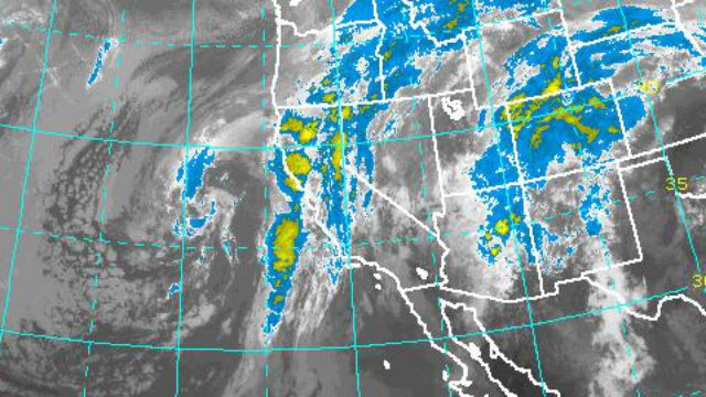 Satellite image of remnants of Hurricane Rosa