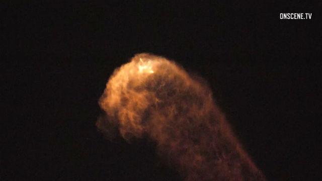 SpaceX Falcon 9 in flight