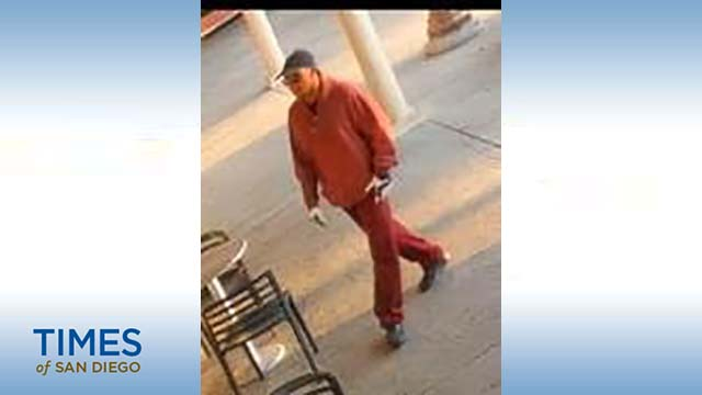 "Surveillance photo of ""Burgundy Bandit"" sought by FBI."