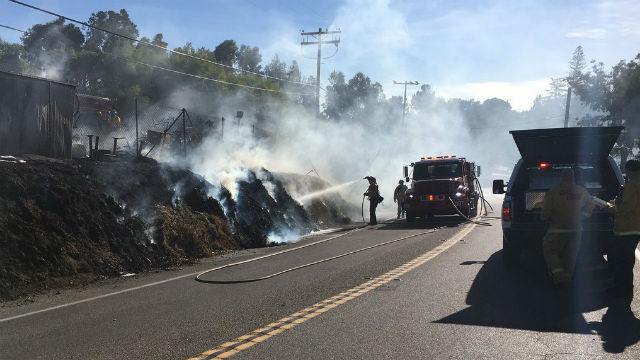 Cal Fire crew battles small Fallbrook fire