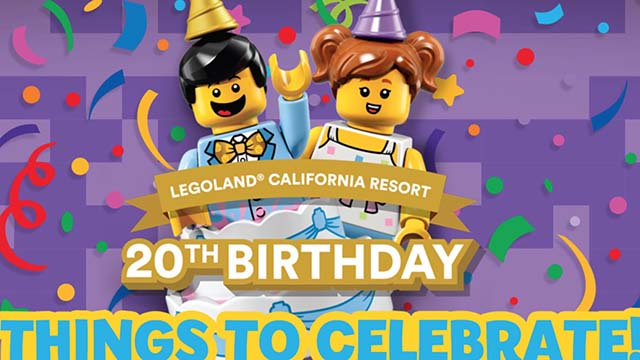 Legoland will celebrate its 20th anniversary in 2019 with free birthday admission to kids 12 and under.