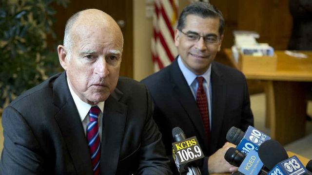 Gov. Jerry Brown and Atty. Gen. Xavier Becerra