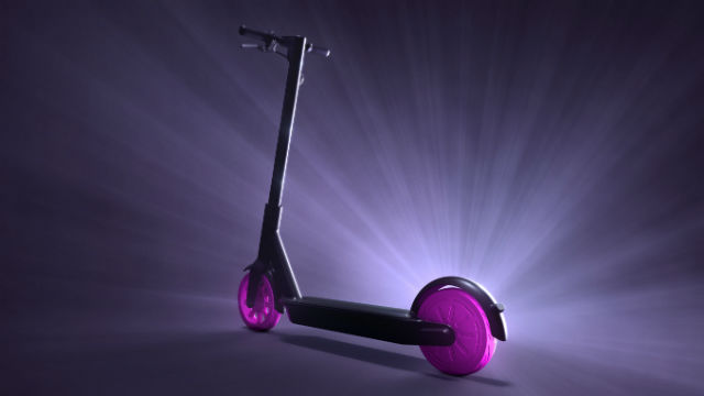Lyft dockless electric scooter