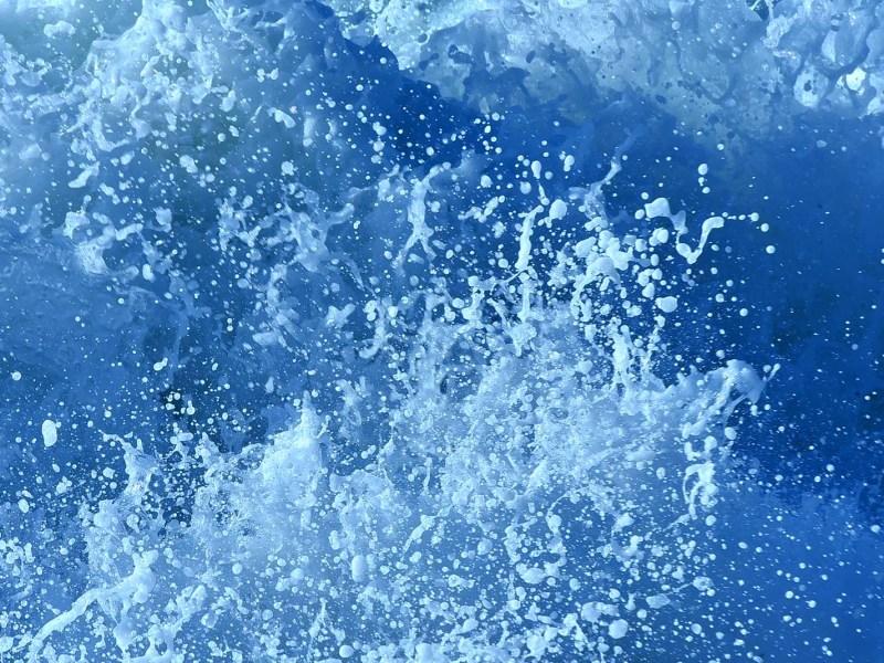 Waves pound the coast near Windansea in La Jolla.