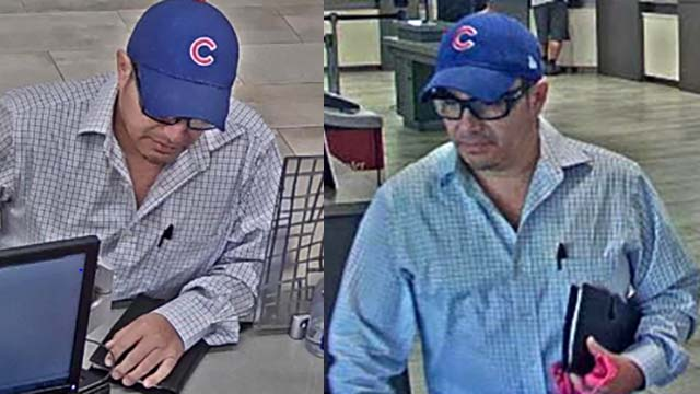 Surveillance images of robber at Mission Federal Credit Union branch in Chula Vista.