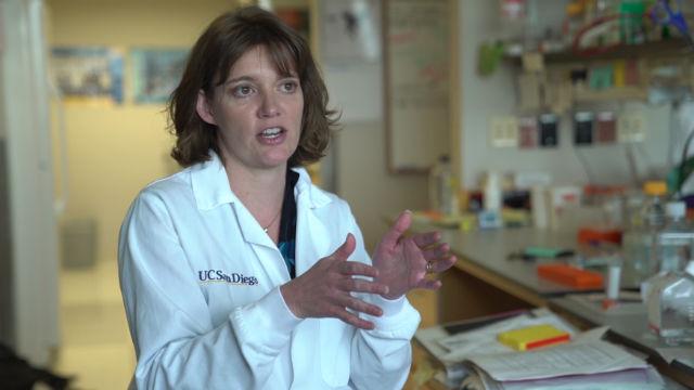 Kimberly Cooper in her laboratory